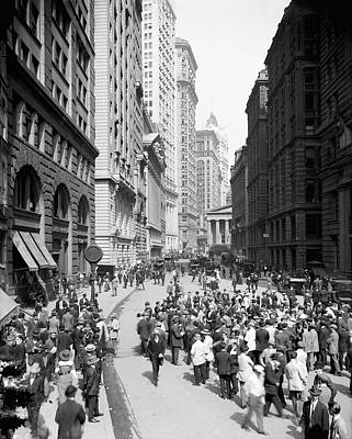Curb Brokers Print by Library Of Congress