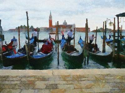 Venice Painting - Curbside Parking by Jeff Kolker