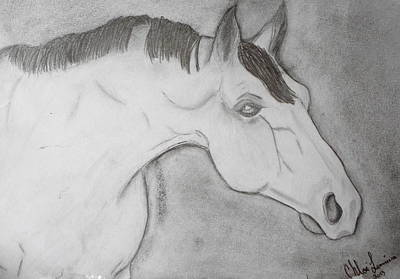 Horses Painting - Curious by CA Lemieux