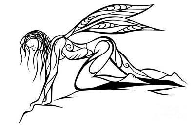 Curious Fairy 1 Print by Jamie Lynn