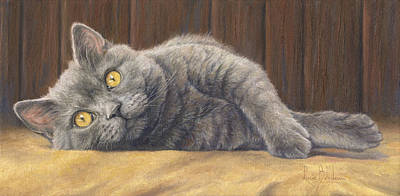 Feline Painting - Curious Max by Lucie Bilodeau