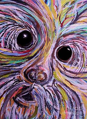 Abstract Painting - Curious Schnauzer by Eloise Schneider
