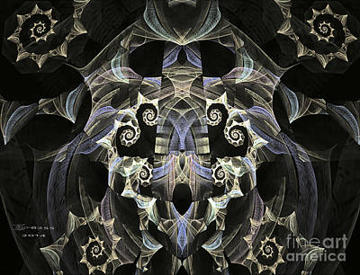Symmetry Digital Art - Curly Q's by Melissa Messick
