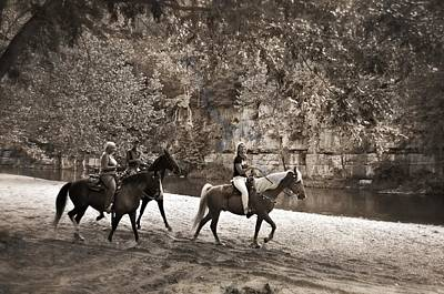 Current River Horses Print by Marty Koch