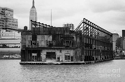Currently Condemned Pier 64 On The Hudson River New York City Usa Print by Joe Fox