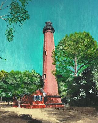 Painting - Currituck Beach Lighthouse by Stephany Elsworth