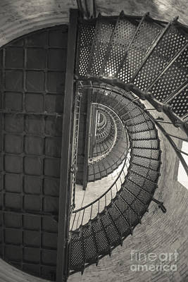 Currituck Lighthouse Stairs Print by Kay Pickens