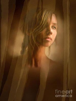 Curtain Girl Print by Robert Foster