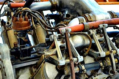 Closeup Print featuring the photograph Curtiss Ox-5 Airplane Engine by Michelle Calkins