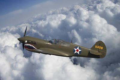 Curtiss P-40 Warhawk Flying Tigers Print by Adam Romanowicz