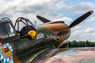 Military Photograph - Curtiss-wright P40 Warhawk  by Mark Papke