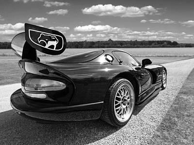 Viper Photograph - Curvalicious Viper In Black And White by Gill Billington
