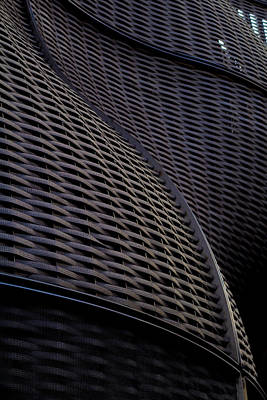 Lattice Photograph - Curved Lattice Structure  by Claire  Doherty