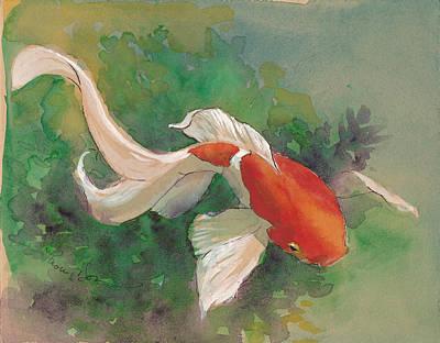 Curvy Colorful Goldfish Original by Tracie Thompson
