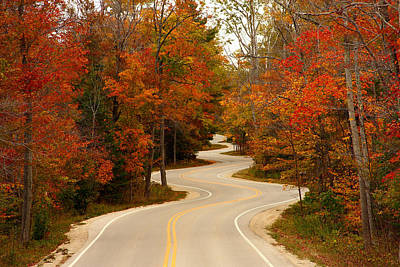 Road Photograph - Curvy Fall by Adam Romanowicz