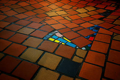 Curvy Floor Print by Ivan Slosar