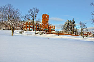 Snow Photograph - Cushing Academy In Winter by Donna Doherty