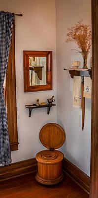 Custom Mirror Photograph - Custer's Crapper by Paul Freidlund