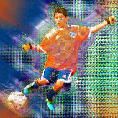 Custom Sport Portrait Family 3 Boy 1 Print by Tony Rubino