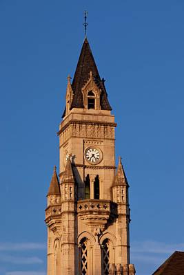 Customs House Clock Tower In Nashville Print by Brian Jannsen
