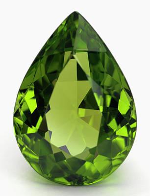 Peridot Photograph - Cut Peridot Gemstone by Dorling Kindersley/uig