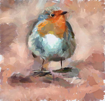 House Pet Digital Art - Cute Bird 2 by Yury Malkov
