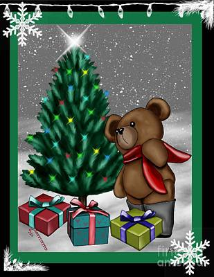 Teddy Bear Mixed Media - Cute Teddy Bear 6 by Karen Sheltrown