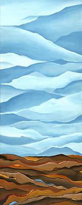 Cuts Across The Land Print by Logan Hoyt Davis
