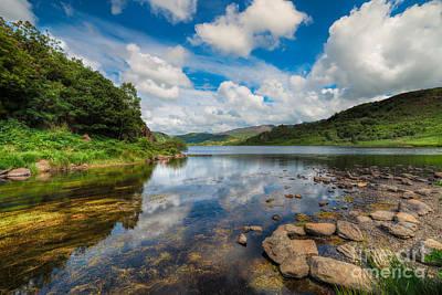 Lakes Digital Art - Cwellyn Lake Wales by Adrian Evans