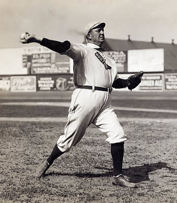 Umpire Photograph - Cy Young - American League Pitching Superstar - 1908 by Daniel Hagerman