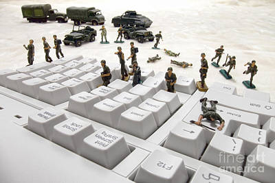 Invade Photograph - Cyber Attack by Olivier Le Queinec