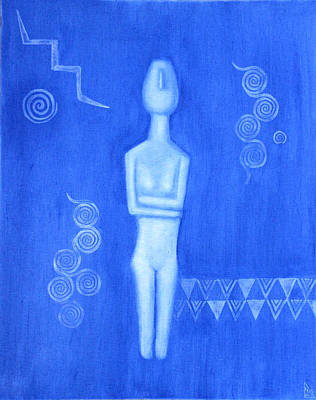 Cycladic Goddess - Left Panel Print by Diana Perfect
