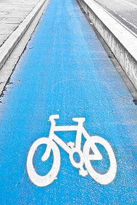 Asphalt Photograph - Cycle Path by Tom Gowanlock
