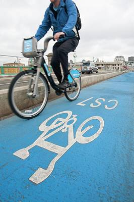 Cycle Superhighways Print by Ashley Cooper
