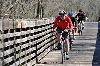 George Bush Photograph - Cyclists by Teresa Blanton