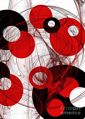 Curves Mixed Media - Cyclone Circle Abstract by Andee Design