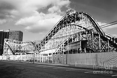 Roller Coaster Photograph - Cyclone Ride by John Rizzuto