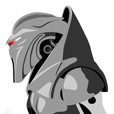 Cylon Print by Paul Dunkel
