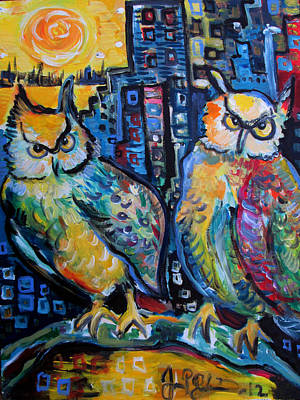 Painting - Cynical Hooters  by Jon Baldwin  Art