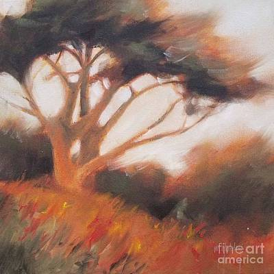 Beach Painting - Cypress Slope 2 by Mary Hubley