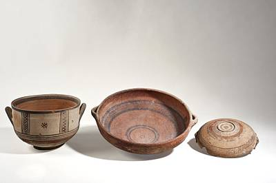Ceramics Photograph - Cypriot Terracotta Bowls by Science Photo Library