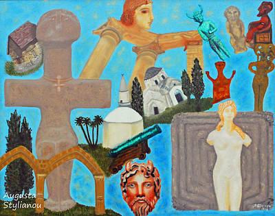 Fertility Painting - Cyprus History by Augusta Stylianou