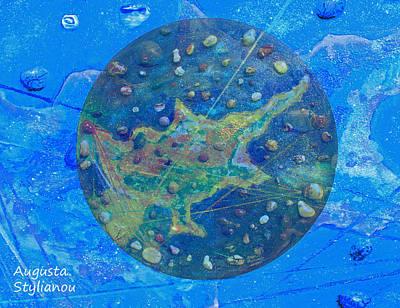 Chart Mixed Media - Cyprus Planetary Map by Augusta Stylianou