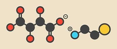 Cysteamine Bitartrate Drug Molecule Print by Molekuul