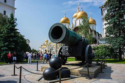 Czar Cannon Of Moscow Kremlin Print by Alexander Senin