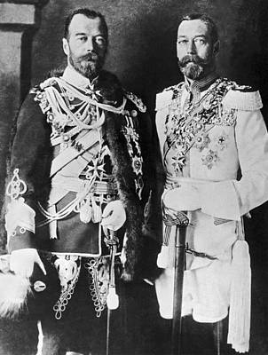Czar Nicholas And King George V Print by Underwood Archives