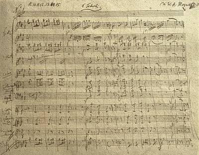 Musical Artist Painting - Czech Republic Prague Symphony No. 38 In D Major Called Prague Symphony by Wolfgang Amadeus Mozart