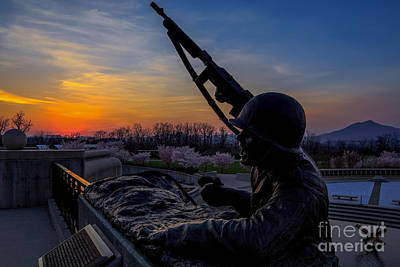 D-day At Sunset Print by Mark East