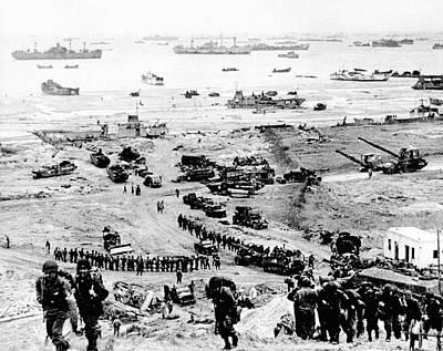 D-day Landings Beachhead Print by Us Army