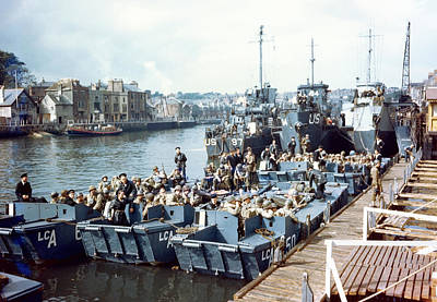 Omaha Photograph - D-day Landings Preparations by Us Coast Guard